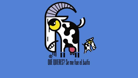 Ilustraciones originales. La cabra y el baifo